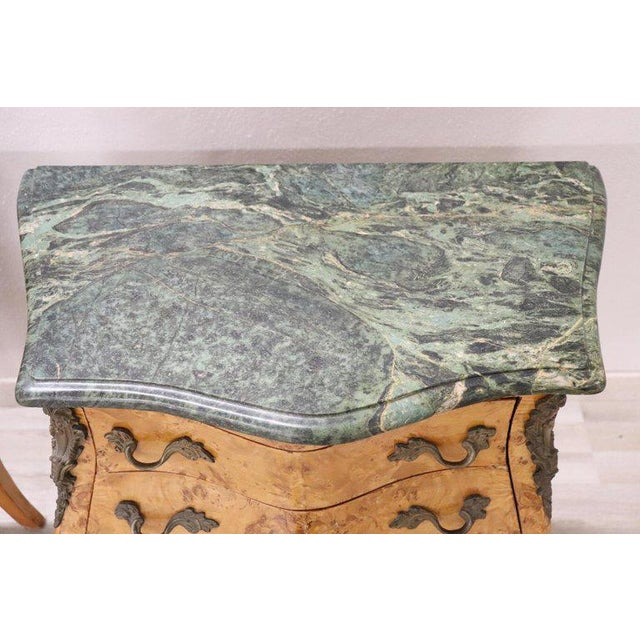 Bronze 20th Century Italian Venetian Louis XV Style in Wood Burl - a Pair For Sale - Image 7 of 13