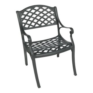 Crossweave Outdoor Chair in Black For Sale