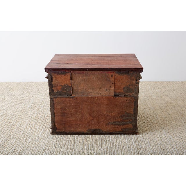 19th Century Burmese Gilded Chest or Trunk Table For Sale - Image 12 of 13