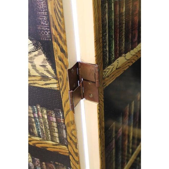 "Green Folding Screen ""Bosco Con Balaustra-Libri"" by Piero Fornasetti For Sale - Image 8 of 11"