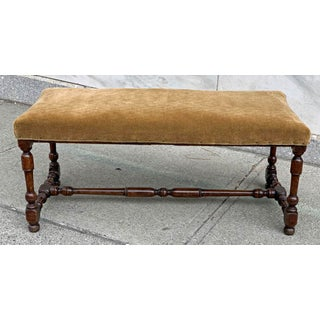Antique American Walnut Upholstered Bench Preview