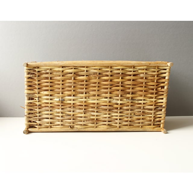Vintage Rattan Basket or Planter - Image 5 of 5