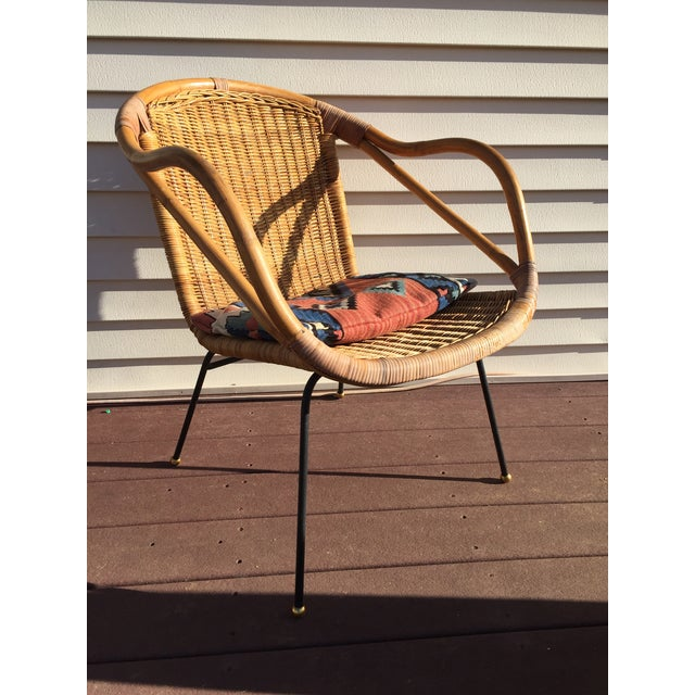 Bamboo Calif-Asia Bamboo and Wicker Arm Chair For Sale - Image 7 of 12