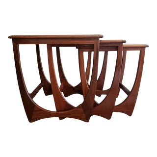 1960's Mid-Century Modern Victor Wilkins for G Plan Teak Astro Nesting Tables - Set of 3 For Sale