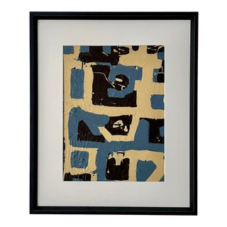Mid Century Abstract Framed Painting