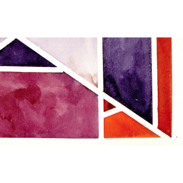 Abstract Watercolor Original Art - 11 In. X 15 In For Sale - Image 4 of 7