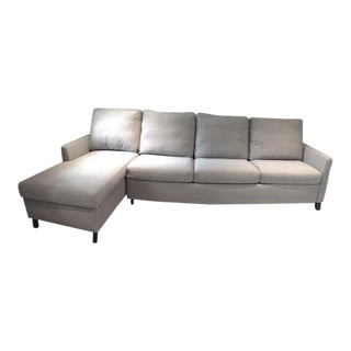 Luxe Gray Sleeper Sectional For Sale