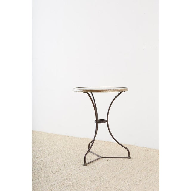 French Belle Époque Iron and Marble Bistro Cafe Table For Sale - Image 12 of 13
