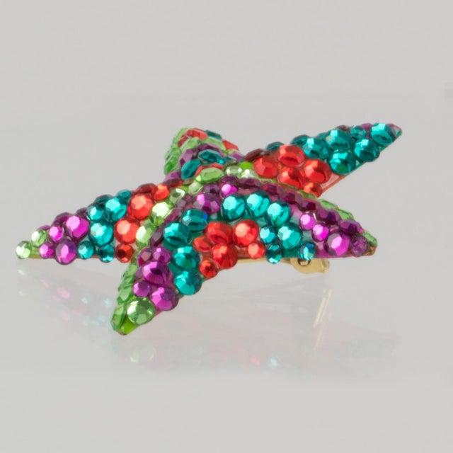 Richard Kerr Multicolor Star Jeweled Clip Earrings For Sale In Atlanta - Image 6 of 7