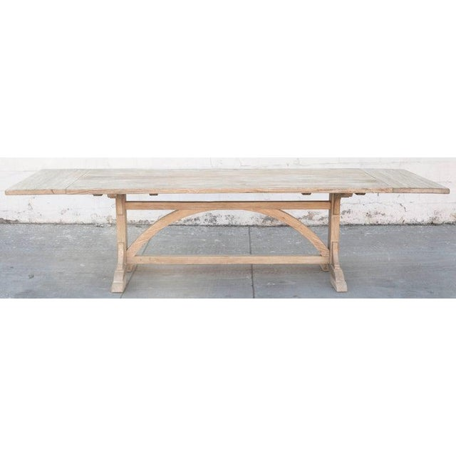 Petersen Antiques Heart Pine Expandable Farm Table For Sale In Los Angeles - Image 6 of 11
