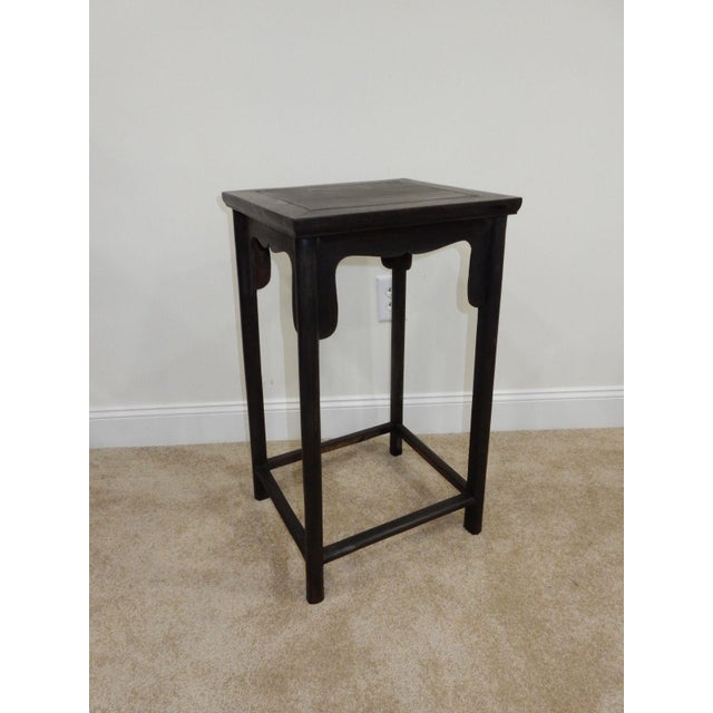 Antique Chinese Zitan Wood Side Table - Image 8 of 11