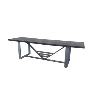 Industrial Dining Table or Conference Table by Invictus Steelworks For Sale