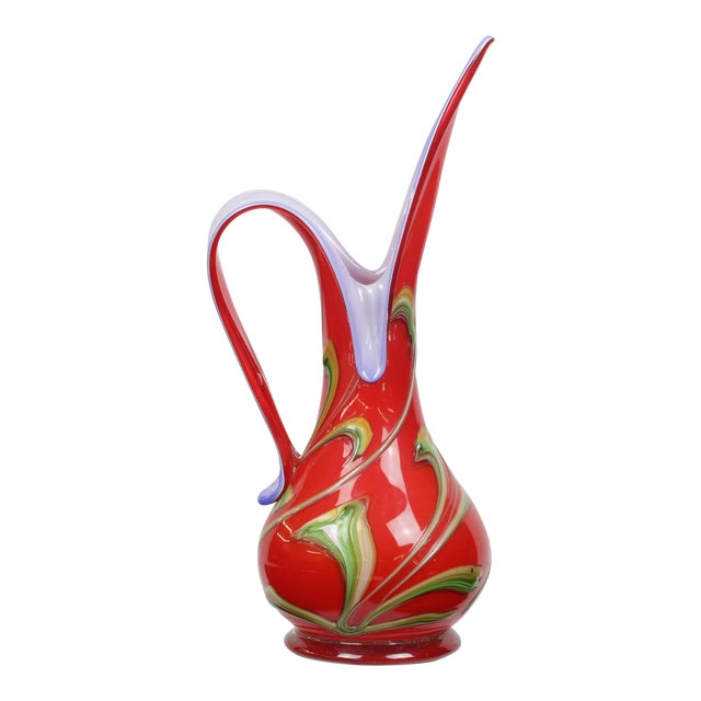 Art Deco Hand-Blown Glass Pitcher - Image 1 of 8