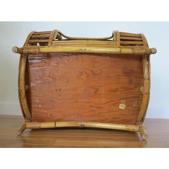 C.1930 Art Deco Abercrombie & Fitch Rattan Bamboo Pet Bed - Image 8 of 8