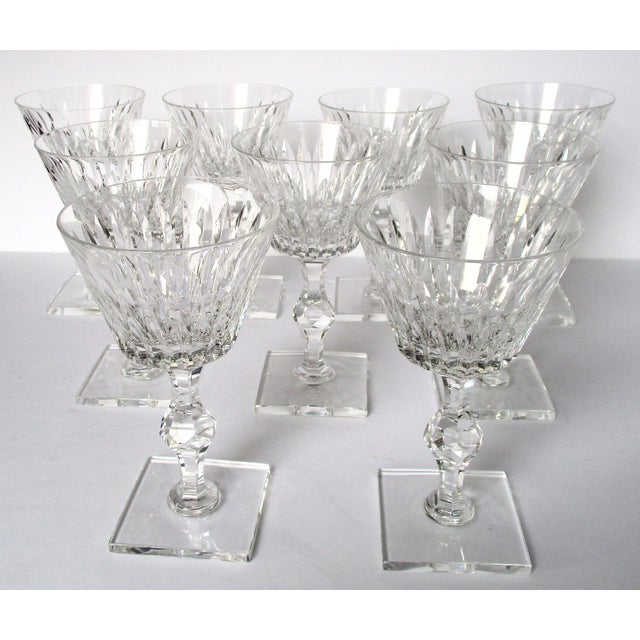Set of (9) Hawkes Champagne/Sherbert Stems - Eardley Pattern. Circa. 1940. American Hawkes Glassworks was in production...