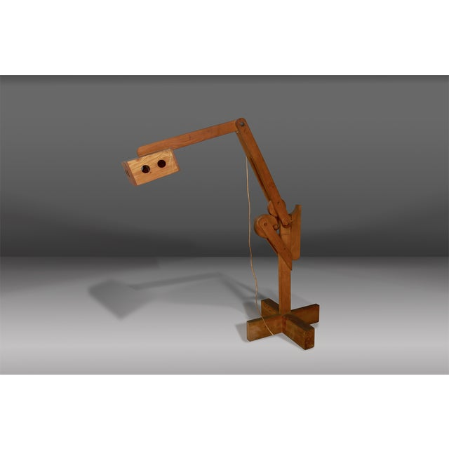 Wood Sculpture Lamp by Pietro Cascella, Signed and Numbered. For Sale - Image 7 of 7