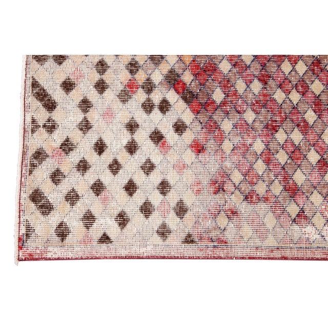 Mid 20th Century Vintage Art Deco Wool Runner Rug For Sale - Image 10 of 13