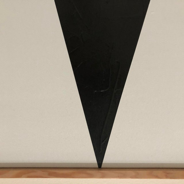 """Abstract Original Acrylic Painting """"Black Jagged Triptych Jet0595"""" For Sale - Image 3 of 5"""
