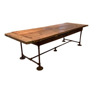 Rustic Barn Wood Dining Room Table For Sale