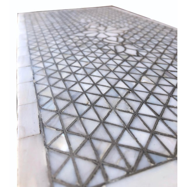 Mother of Pearl Inlay Contemporary Side Table For Sale In Los Angeles - Image 6 of 8