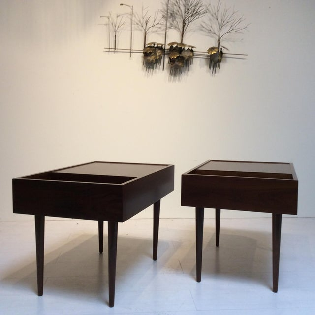 Mid-Century Modern 1950s Mid-Century Modern Milo Baughman for Glenn of California End Tables - a Pair For Sale - Image 3 of 6