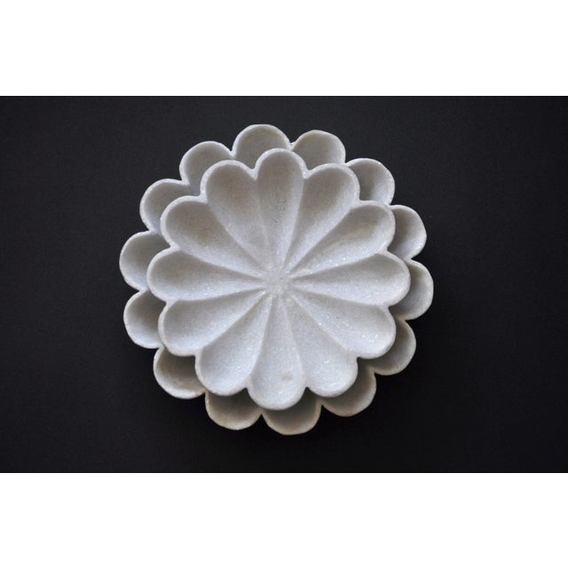 """2000 - 2009 Marble Flower 12"""" Bowl For Sale - Image 5 of 6"""