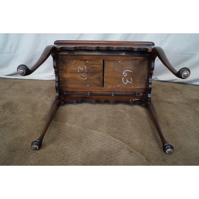 Statton Old Towne Solid Cherry Queen Anne Table - Image 9 of 10