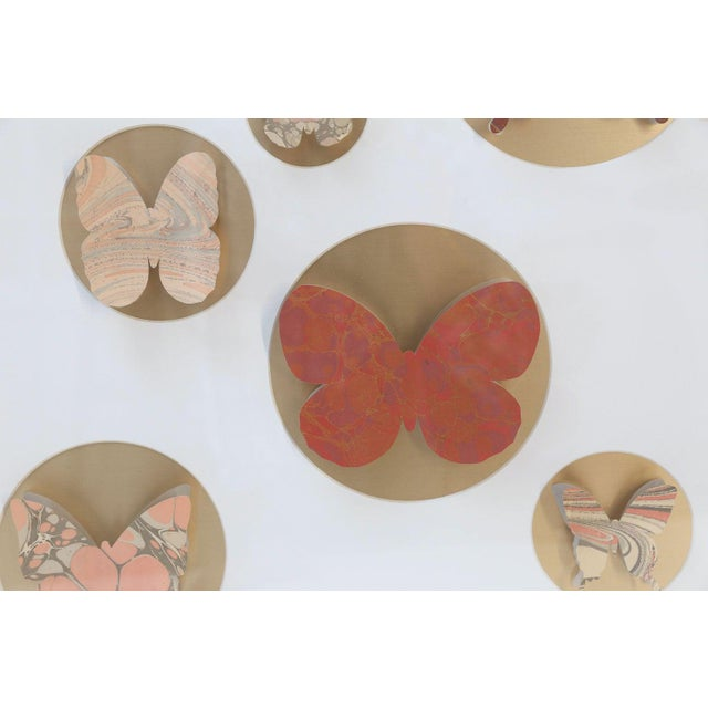 Hand-cut butterfly box from vintage hand painted Marbalia wallpaper samples (circa 1957) hand-cut into butterfly shapes....