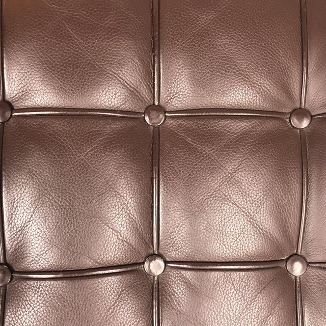 K&d Furniture Barcelona Style Brown Bonded Leather Ottomans - a Pair - Image 5 of 7