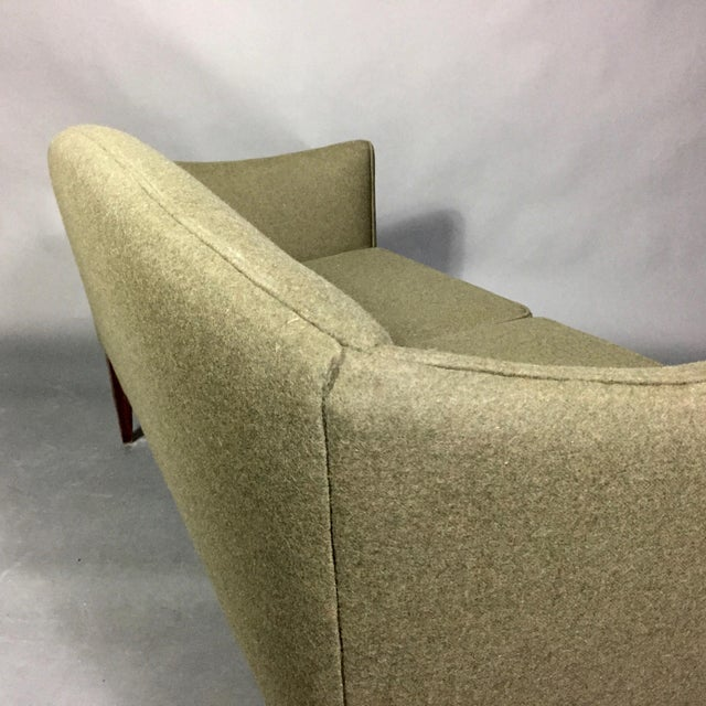 Illum Wikkelsø 2-Seat Wool Sofa, Denmark 1960s For Sale - Image 9 of 12