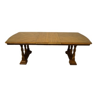 Virginia House Oak Rustic Country Style Dining Table For Sale