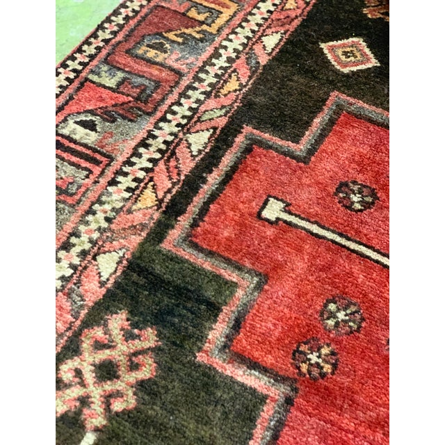 1950s Vintage Persian Runner Rug - 3′4″ × 9′ For Sale - Image 12 of 13