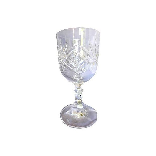 Vintage French Cut Crystal Wine Glasses Set Of 6 Chairish