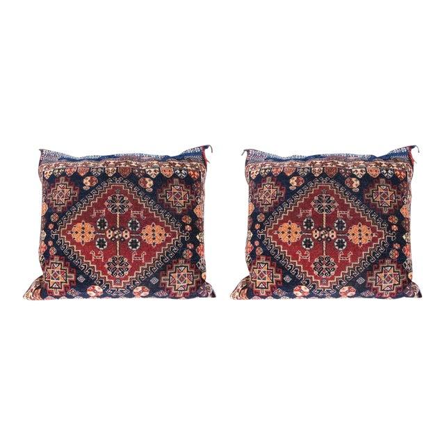 Pair of Qashqai Bagface Pillows For Sale