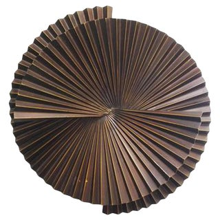 Single Large Fan Sconce Sculpture by Fabio Ltd For Sale