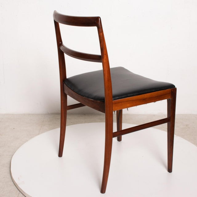 Wood Mid Century Danish Modern Set of 6 Dining Chairs by Arne Vodder for Sibast 430 For Sale - Image 7 of 11
