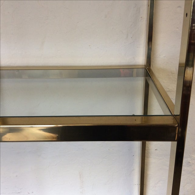 Brass Etagere With Glass Shelves - Image 4 of 7
