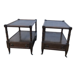 Mid Century Modern Faux Bamboo Nightstands - a Pair For Sale