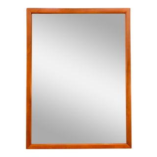 Walnut Framed Wall Mirror For Sale