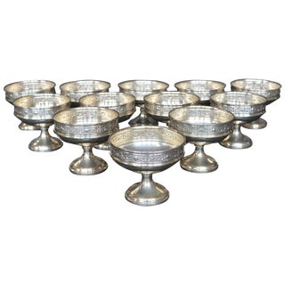Collection of Sterling Silver Ice Cream Dishes For Sale