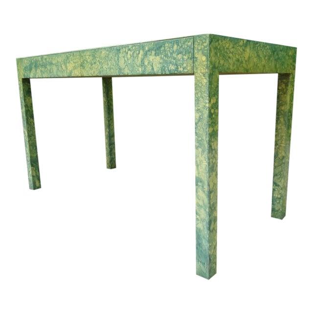 C.1967 Designer Raindrop Finish Vanity Desk Console Table - Image 1 of 13