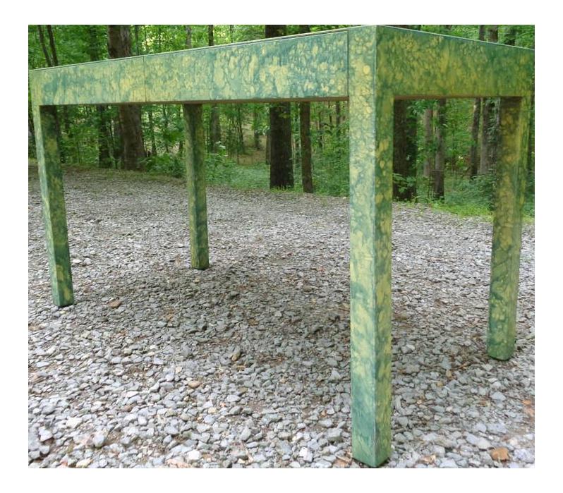 C.1967 Designer Raindrop Finish Vanity Desk Console Table