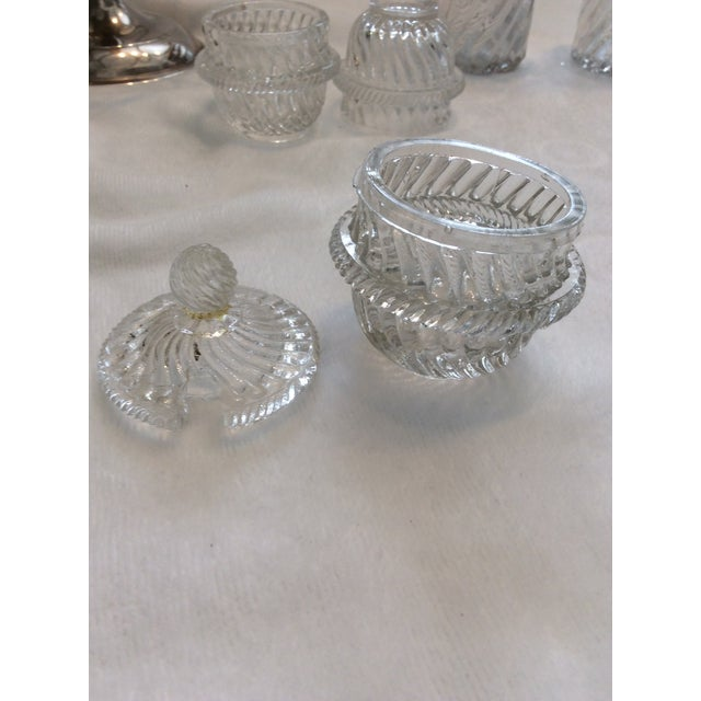 Glass English Cruet Set - Set of 5 For Sale In San Francisco - Image 6 of 8