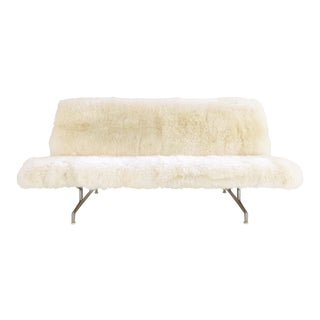 Charles and Ray Eames for Herman Miller Model 3473 Sofa, Restored in Brazilian Sheepskin For Sale