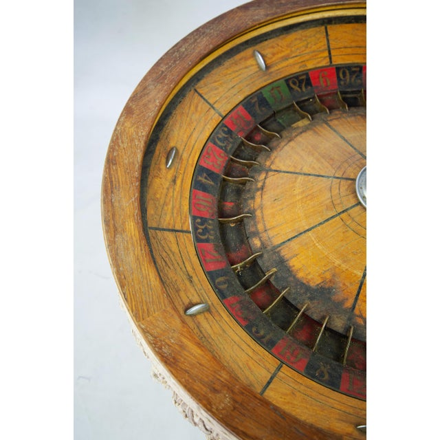 Brown Large Antique Vintage Roulette Wheel For Sale - Image 8 of 9