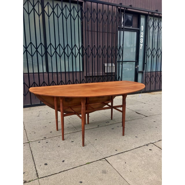 Mid-Century Drop Leaf Dining Table - Image 7 of 10