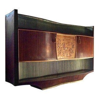 Vittorio Dassi Sideboard Credenza Rosewood Midcentury, Italy, 1950s For Sale