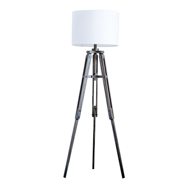 Tripod Wooden Floor Lamp For Sale