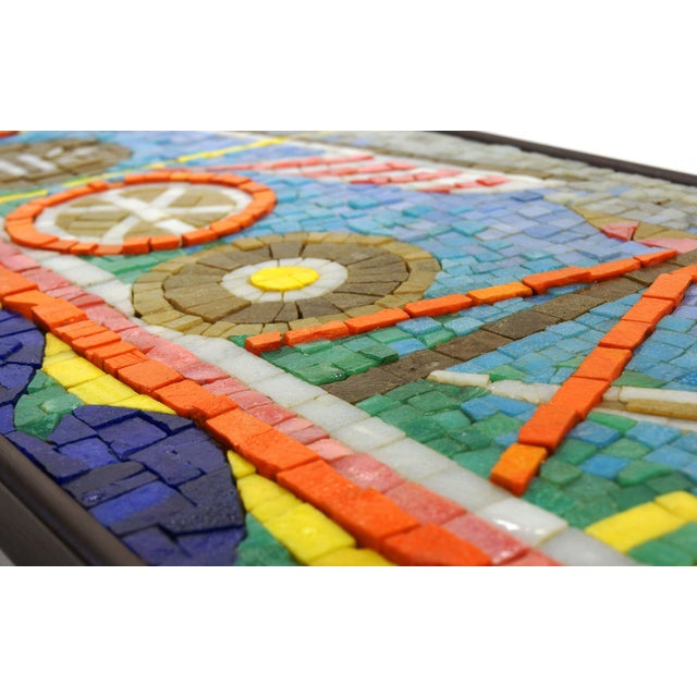 Rare Evelyn Ackerman Mosaic Tile Wall Hanging, Grecian Long Boat Scene - Image 4 of 8