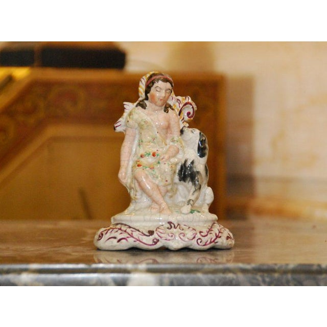 English Staffordshire Maiden With Dog - Image 3 of 4